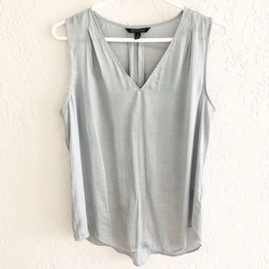 Banana Republic Silky Sleeveless Pale Blue Shell